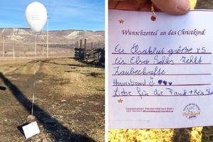 Thả điều ước theo bóng bay, bé gái Áo nhận món quà bất ngờ từ lão nông Nga