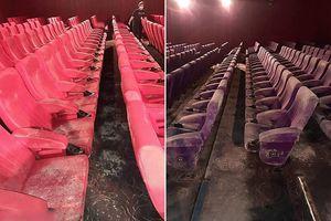Đóng cửa nghỉ dịch 2 tháng, rạp chiếu phim bám đầy nấm mốc