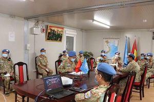 Bệnh viện dã chiến Việt Nam ở CH Nam Sudan tập huấn trực tuyến về phòng, chống Covid-19