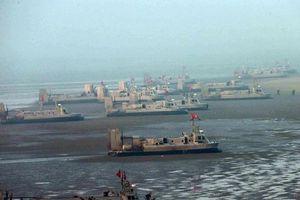 Ảnh hiếm về đội tàu đệm khí đổ bộ cực đông của Quân đội Triều Tiên