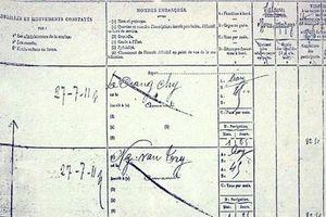 Trang sổ lương của Bác Hồ được công bố khi làm phụ bếp trên tàu Pháp