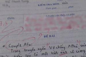 Kiểm tra Ngữ Văn nhưng ghi cả tiếng Anh vào bài làm, cô giáo phản đòn cực gắt khiến cộng đồng mạng cười nắc nẻ