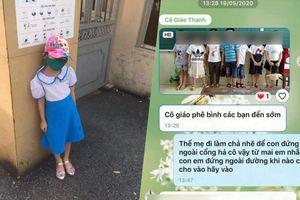 Học sinh bị cô giáo chụp ảnh phê bình vì đi học sớm khiến phụ huynh bức xúc