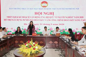 Mặt trận Tổ quốc thành phố Hà Nội hỗ trợ xây dựng 90 nhà Đại đoàn kết cho hộ nghèo