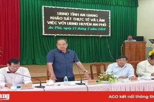 Chủ tịch UBND tỉnh An Giang làm việc với huyện An Phú