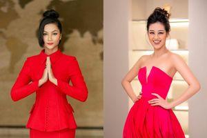 Hoa hậu Khánh Vân, H'Hen Niê cùng dẫn đầu top sao đẹp khi diện gam màu đỏ bỏng cháy