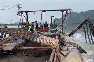 Quảng Ninh: Khởi tố đối tượng khai thác cát trái phép trên sông Đá Bạc