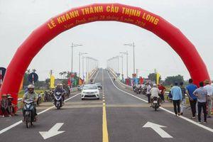 Thông xe cầu Thịnh Long trên tuyến đường bộ ven biển Nam Định
