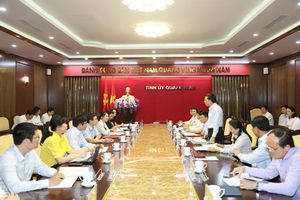 Thường trực Tỉnh ủy làm việc với Đoàn khảo sát của Ban Tổ chức Trung ương