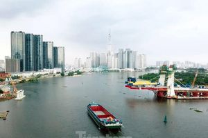 Hối hả thi công cầu Thủ Thiêm 2 kết nối với trung tâm Sài Gòn