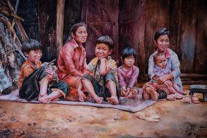 Họa sĩ trưng bày tranh online giúp người nghèo xây nhà