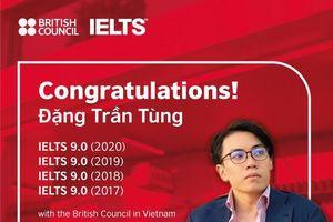 Thí sinh đầu tiên 4 lần đạt điểm IELTS 9.0 với Hội đồng Anh ở Việt Nam