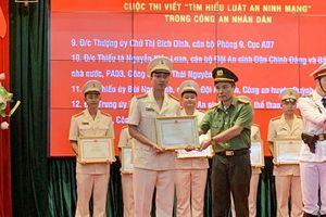 Công an Hà Nam đạt giải Khuyến khích Cuộc thi viết 'Tìm hiểu Luật An ninh mạng'