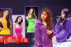 Hương Giang diện váy tím lịm tìm sim vẫn đẹp xuất sắc, 'nuốt layout' không kém H'Hen Niê