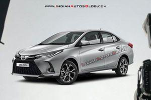 Xem trước Toyota Yaris 2021 facelift sedan qua ảnh dựng