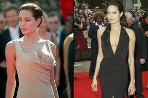 Những lần Angelina Jolie khoe trọn 'đôi gò bồng đảo' trong váy dạ hội, tỏa sáng trên thảm đỏ