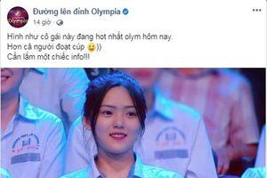 Nữ sinh bỗng dưng nổi tiếng hơn người vô địch Đường lên đỉnh Olympia