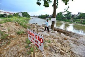 Hà Nội công bố tình trạng sạt lở trên sông Bùi, sông Đáy