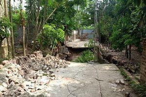 Sụt lún nghiêm trọng tại xã Hòa Xá (huyện Ứng Hòa)