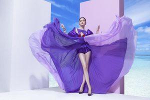 Học cách diện trang phục tím lịm sang chảnh của hoa hậu Hương Giang