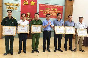 TP Uông Bí: 18 tập thể, cá nhân được khen thưởng về phòng, chống thiên tai