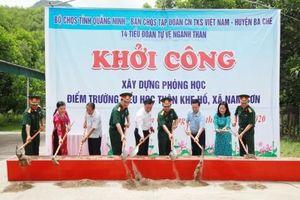 Quảng Ninh: Bộ đội giúp dân xây phòng học tặng cho khe bản rẻo cao