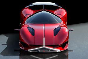 Mercedes Redsun - xe concept có đèn pha tạo hình ngôi sao ba cánh
