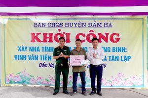 Ban CHQS huyện Đầm Hà: Khởi công xây dựng nhà tình nghĩa cho thương binh