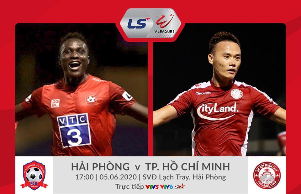 Trực tiếp Hải Phòng vs TP.HCM vòng 3 V-League 2020