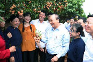Thủ tướng cắt băng xuất hành đoàn xe tiêu thụ vải thiều Bắc Giang