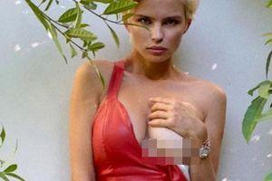 Mẫu nội y nước Nga táo báo tung ảnh lộ ngực trần