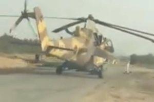 Trực thăng Mi-35 bị tịch thu 'đánh võng' trên đường bộ ở Libya
