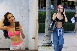 Nàng mẫu Tuyết Lan cực gắt khi 'bắt sóng' kiểu mặc bikini mix quần xệ lộ nội y như chân dài Bella Hadid