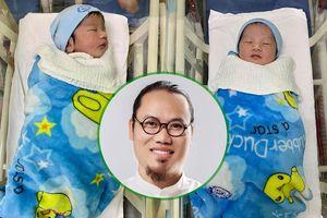Đón thêm cặp song sinh ở tuổi 40, nghệ sĩ hài Vượng Râu chính thức nhập 'hội sao Việt đông con'
