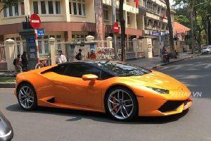 Cận cảnh siêu xe Lamborghini Huracan hàng hiếm ở Sài Gòn