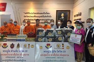 Chư tăng Phật giáo An Nam Tông và người Việt tỉnh Udon Thani hỗ trợ nước bạn chống dịch COVID-19