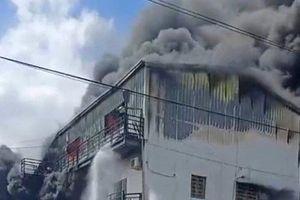 Hải Phòng: Cháy lớn tại công ty sản xuất da giày Mai Hương