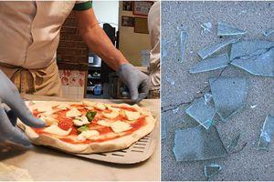 Nhiều mảnh kính vỡ trong pizza chuyển đến Vệ binh Quốc gia Mỹ