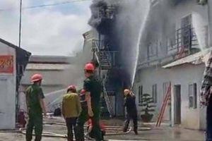 Cháy lớn tại công ty Giày Mai Hương Hải Phòng
