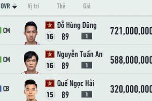 BXH chỉ số của ĐT Việt Nam trong FIFA Online 4: Hùng Dũng đứng số 1