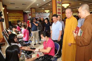 Giáo hội Phật giáo Việt Nam tổ chức 'Ngày hội hiến máu cứu người - Hành Bồ Tát đạo'