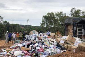 Quảng Ngãi tiêu hủy hàng ngàn sản phẩm bị tịch thu