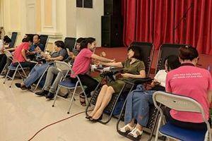 Ngày hội hiến máu của Đoàn Thanh niên Bộ Xây dựng