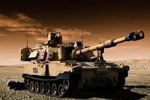 Pháo tự hành M109A7 Paladin 155mm của Mỹ hạ được cả máy bay