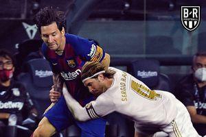 Ảnh chế: Ramos bay người ôm Messi, Real siết chặt Barcelona trong vòng tay
