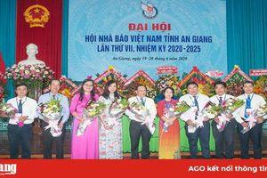 Ông Tân Văn Ngữ tái đắc cử Chủ tịch Hội Nhà báo Việt Nam tỉnh An Giang nhiệm kỳ 2020-2025