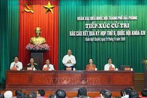 Thủ tướng Nguyễn Xuân Phúc tiếp xúc cử tri tại quận Ngô Quyền, Hải Phòng