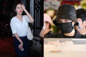 Sao Việt khi dự đám tang: Nhã Phương giản dị kín đáo, Phi Thanh Vân bị fan nhắc nhở vì váy ngắn