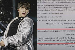 Sơn Tùng M-TP, BTS bất ngờ xuất hiện trong đề thi môn Ngữ Văn