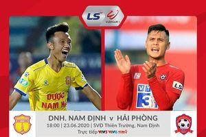 Trực tiếp Nam Định vs Hải Phòng vòng 6 V-League